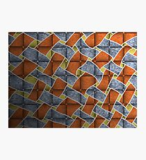 Weave Orange Blue Yellow Black Photographic Print
