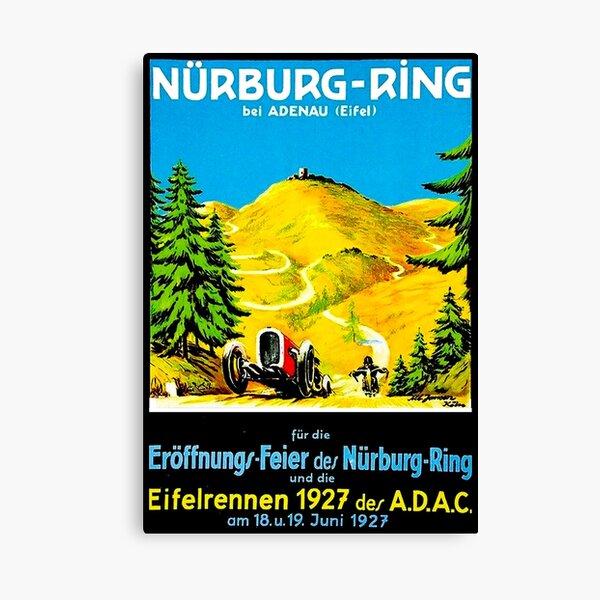 NURBURG-RING : Vintage 1927 Auto Racing Advertising Print Canvas Print