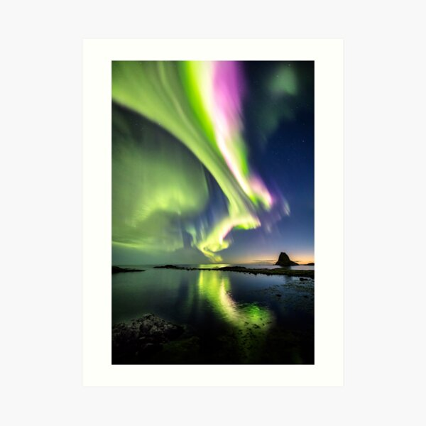 Northern Lights at its brightest Art Print