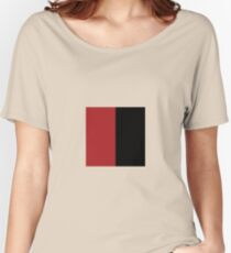2tone - #a51818x#000000 Women's Relaxed Fit T-Shirt