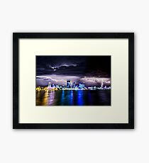 Perth Lightning Storm Framed Print