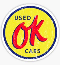 OK Used Cars Sticker