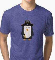 Penguin Pirate Captain Rwfb5 Tri-blend T-Shirt