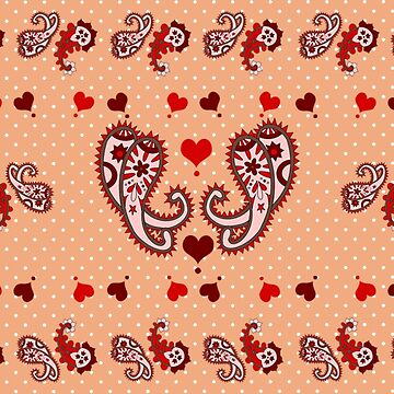 Paisley, Dots and Hearts by Gravityx9