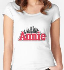 Annie Musical Logo Women's Fitted Scoop T-Shirt