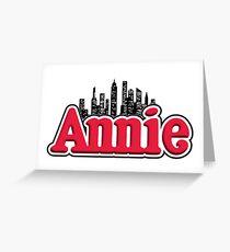 Annie Musical Logo Greeting Card