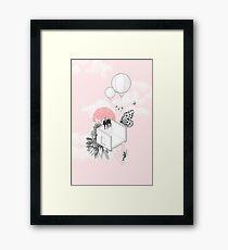 Building Fiction - Balloons & Butterflies Framed Print