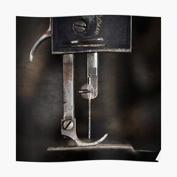 """"""" Old Sewing Machine """" ... #05 of 5 Poster"""