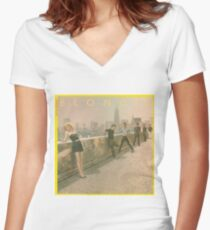 Blondie - Autoamerican Album Cover Women's Fitted V-Neck T-Shirt