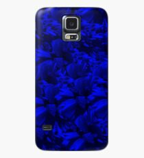 A202 Rich Blue and Black Abstract Design Case/Skin for Samsung Galaxy