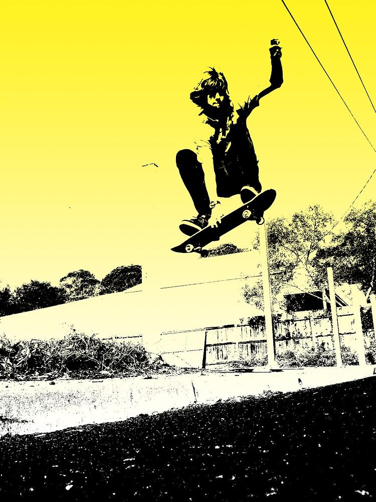 Yellow Stencil Edit by Jean-Rene  Vauzelle