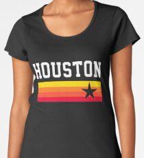 Houston Astros Baseball Throwback Stripes Vintage Women's Premium T-Shirt