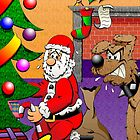 SANTA AND THE GUARD DOG by RHSCOTT