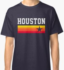 Houston Astros Baseball Throwback Stripes Vintage Classic T-Shirt