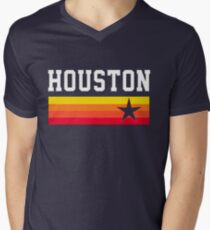 Houston Baseball Throwback Astro Vintage Stripes T-Shirt