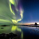 Northern Lights after sunset by Frank Olsen