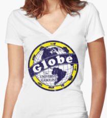 Globe Gasoline Women's Fitted V-Neck T-Shirt