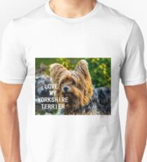 yorkshire terrier black and gold love with picture T-Shirt