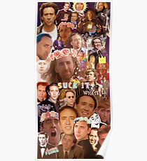 Nic Cage Collage Poster