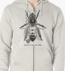 Honey Bee -  Vintage Scientific Illustration Zipped Hoodie