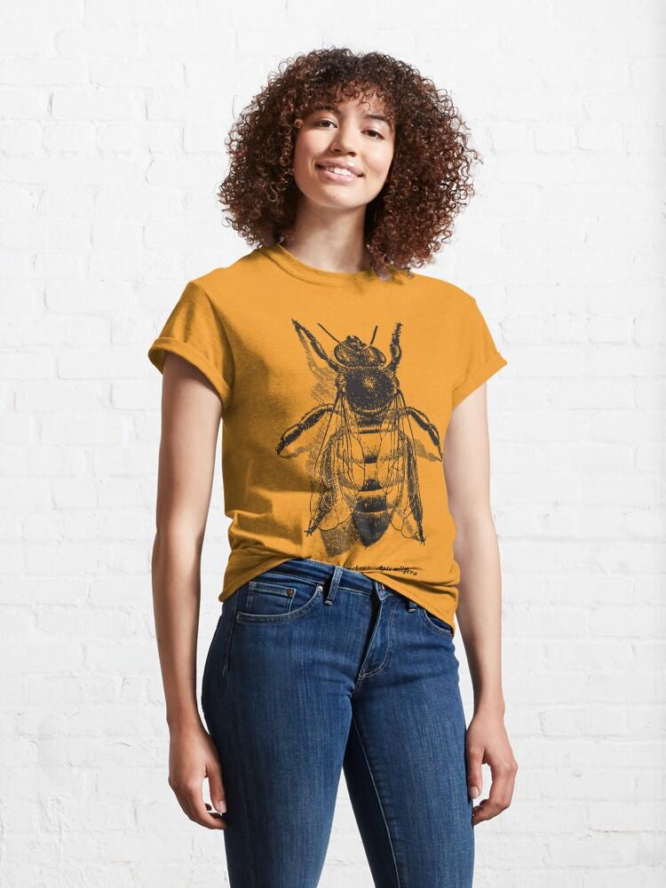 Alternate view of Honey Bee -  Vintage Scientific Illustration Classic T-Shirt