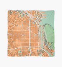 Buenos Aires city map orange Scarf