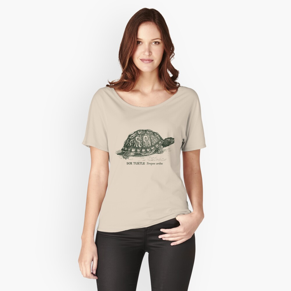 Box Turtle - Vintage scientific illustration Relaxed Fit T-Shirt