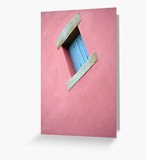 www.lizgarnett.com - French Window on Pink Wall Greeting Card