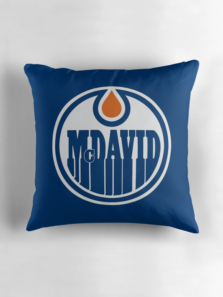 "Edmonton Oilers McDavid"" Throw Pillows by Phneepers"