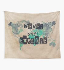 world map 118 never stop explore #map #worldmap Wall Tapestry