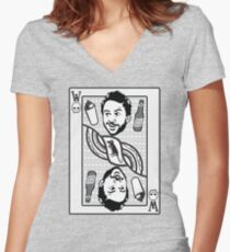 WILD CARD Women's Fitted V-Neck T-Shirt