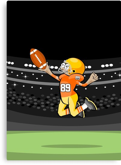 American football player jumps on the ball by MegaSitioDesign