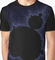 Fractal Light - Blue Mandelbrot Graphic T-Shirt