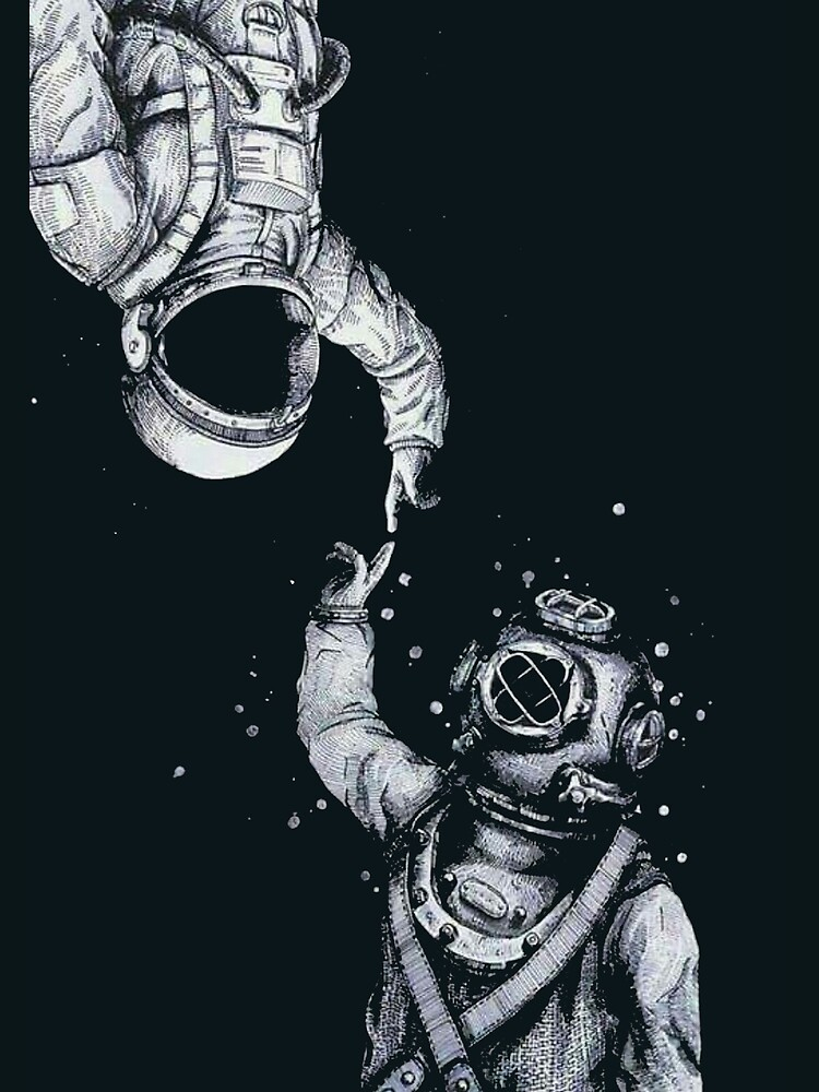 Astronaut and Diver - Last Frontiers  by dru1138