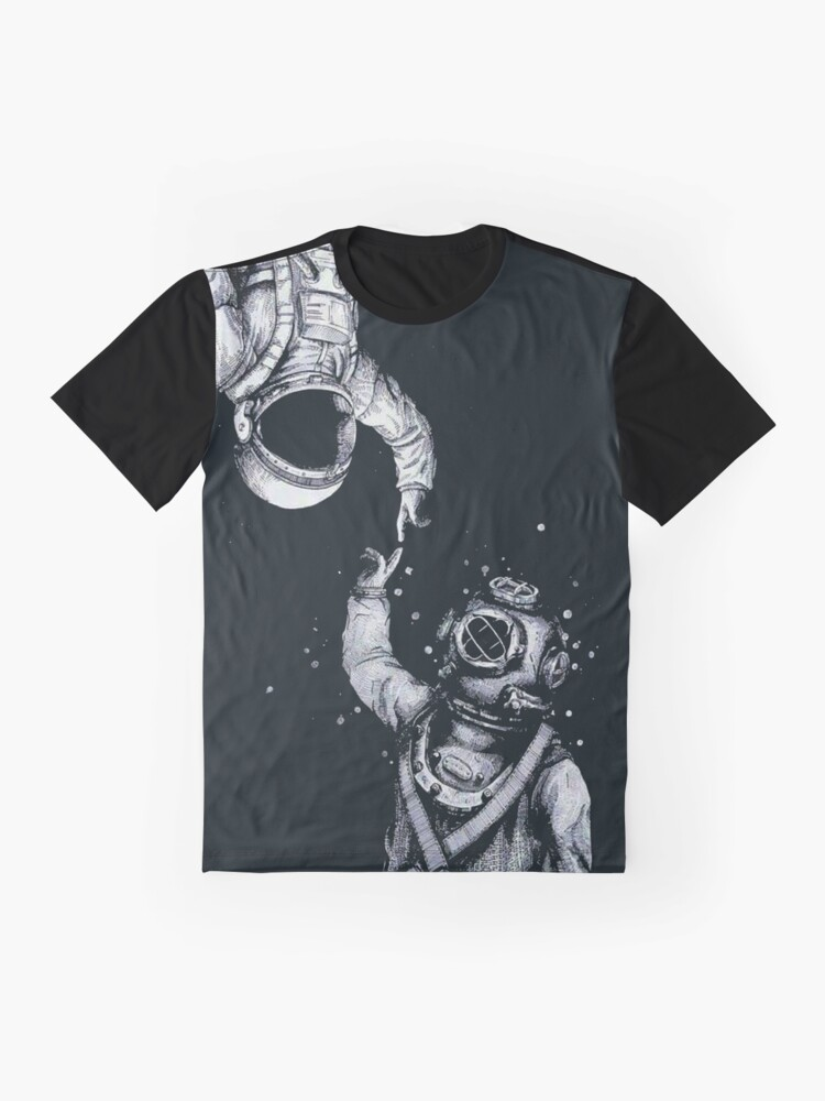 Alternate view of Astronaut and Diver - Last Frontiers  Graphic T-Shirt