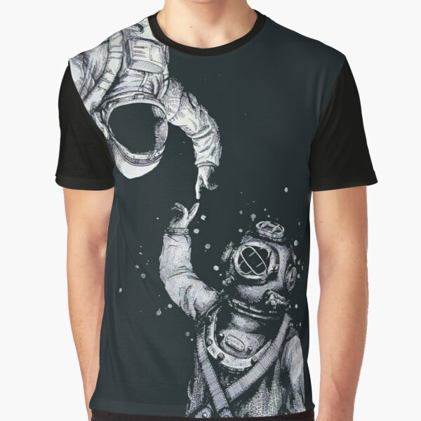 Astronaut and Diver - Last Frontiers  Graphic T-Shirt