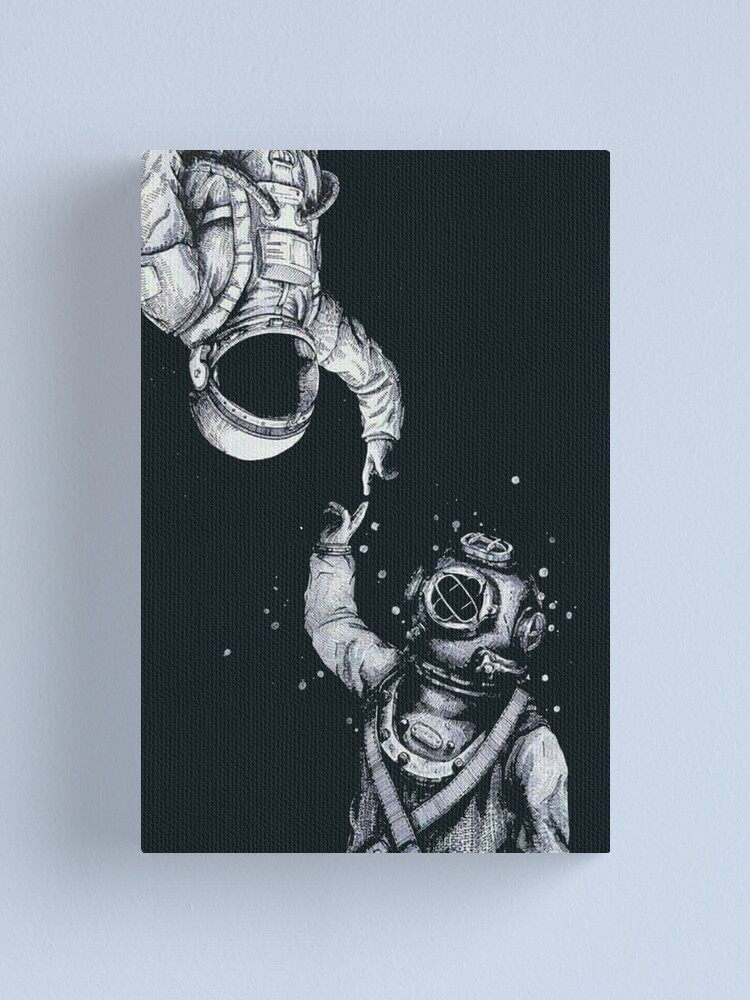 Alternate view of Astronaut and Diver - Last Frontiers  Canvas Print