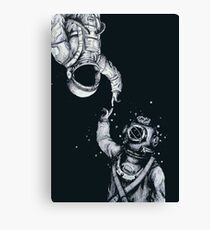 Astronaut and Diver - Last Frontiers  Canvas Print
