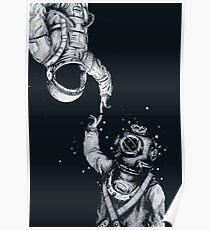 Astronaut und Taucher - Letzte Grenzen Poster