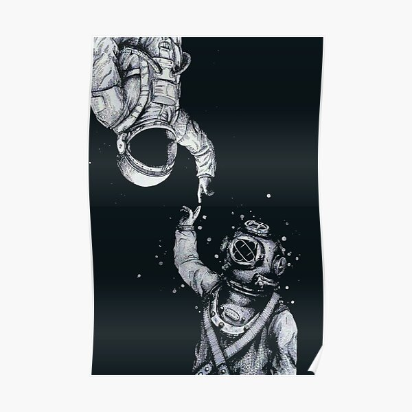 Astronaut and Diver - Last Frontiers  Poster