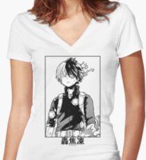 Todoroki Shōto Women's Fitted V-Neck T-Shirt