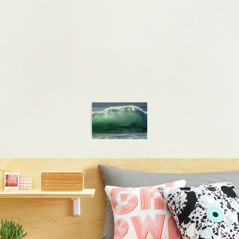 Backlit Wave Photographic Print