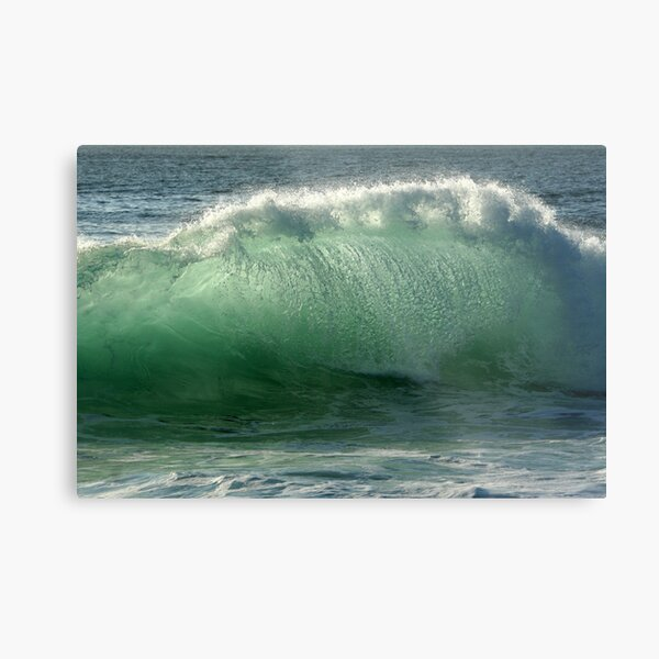 Backlit Wave Metal Print
