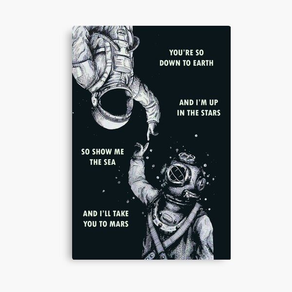 Astronaut and Diver - I'm Up in The Stars Canvas Print