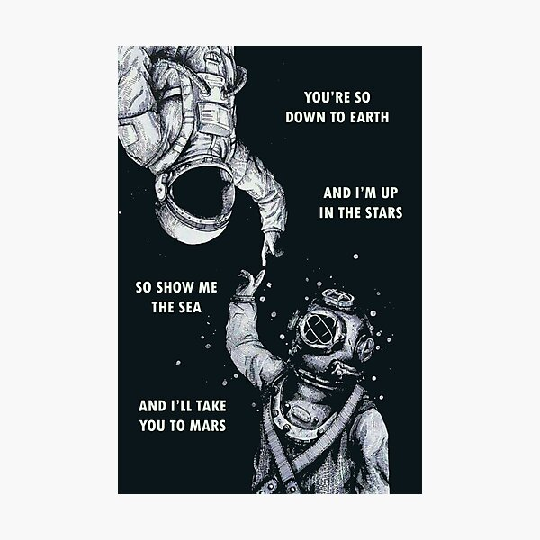 Astronaut and Diver - I'm Up in The Stars Photographic Print