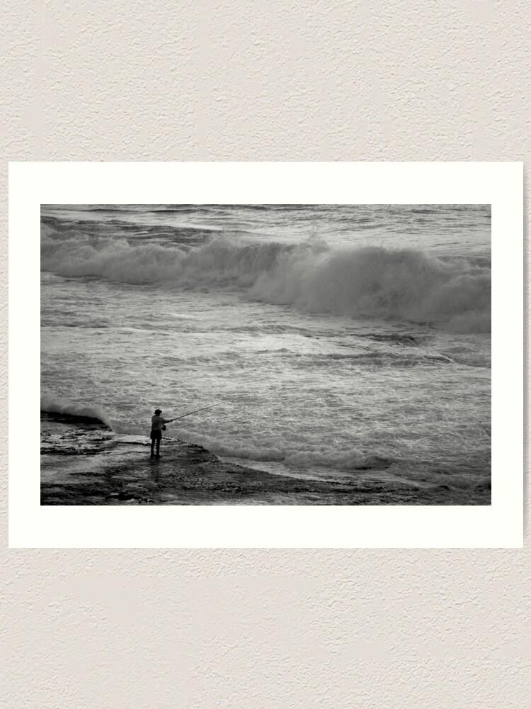 Alternate view of Rock Fisherman Art Print