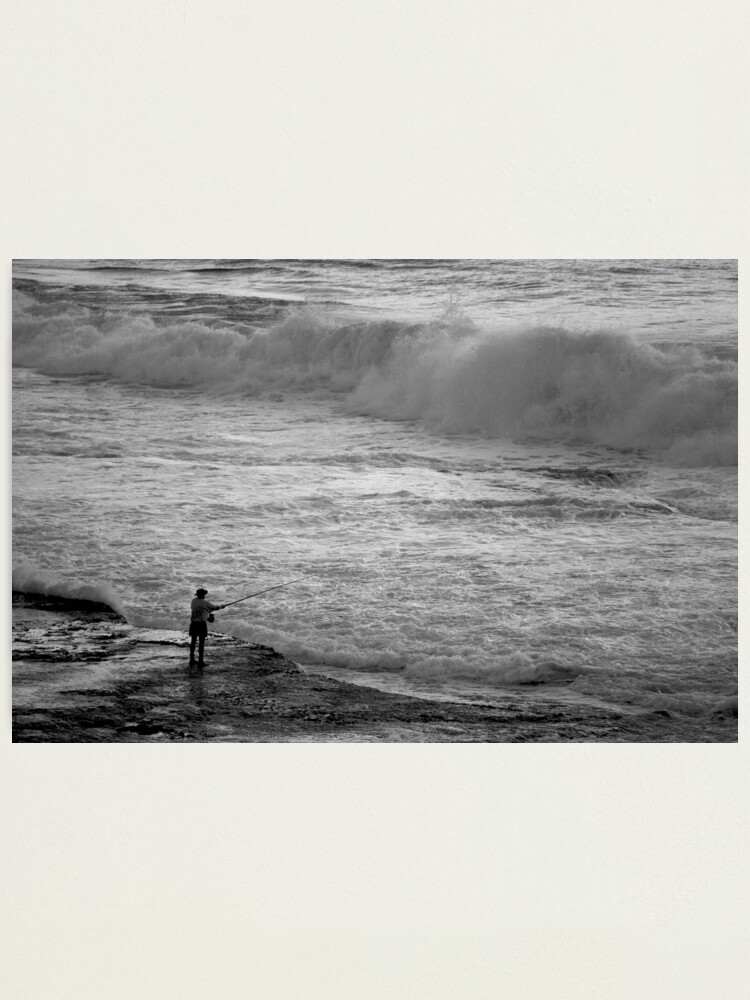Alternate view of Rock Fisherman Photographic Print