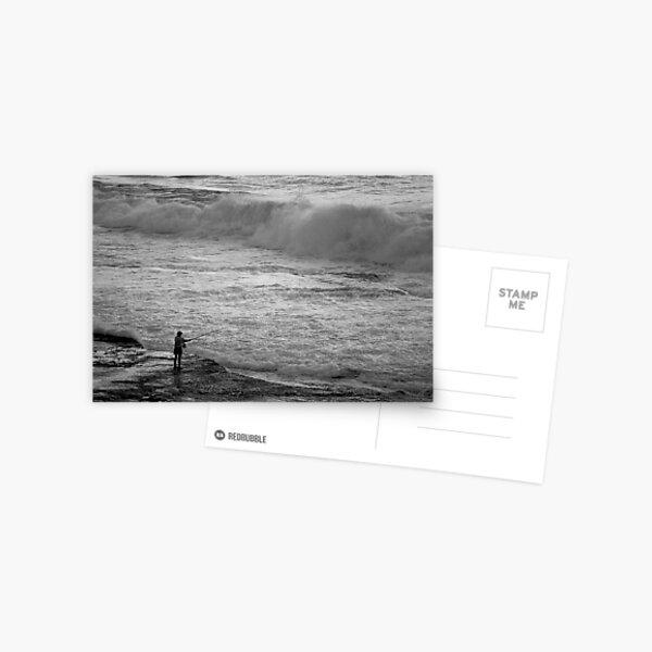Rock Fisherman Postcard