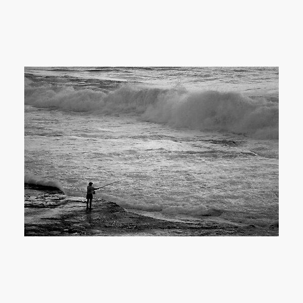 Rock Fisherman Photographic Print