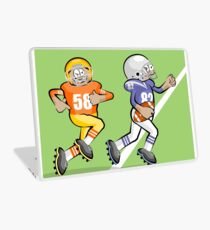 American football player conquering yards Laptop Skin